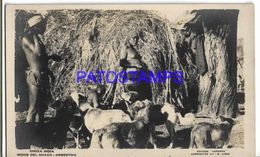 137806 ARGENTINA CHACO COSTUMES NATIVE INDIOS CHOZA POSTAL POSTCARD - Argentine