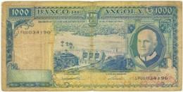 Angola - 1000 Escudos - 10.06.1962 - Pick 96 - Série 1 FUQ - Américo Tomás - PORTUGAL 1 000 - Angola