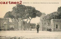 BEYROUTH CACHET GUERRE LIEUTENANT-COLONEL ANDRIEUX ARMEE LEVANT SECTEUR 600 RESIDENCE HAUT COMMISSAIRE LEBANON BEIRUT - Lebanon