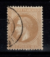 Napoleon - YV 28B Oblitere TB Cote 8 Euros - 1863-1870 Napoleon III With Laurels