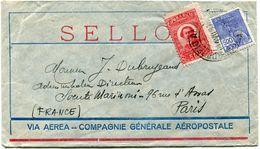 BRESIL LETTRE VIA AEREA - COMPAGNIE GENERALE AEROPOSTALE DEPART RIO DE JANEIRO 19 VII 30 POUR LA FRANCE - Luchtpost