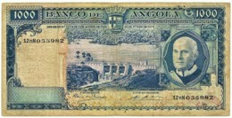 Angola - 1000 Escudos - 10.06.1970 - Pick 98 - Série 12 NN - Américo Tomás - PORTUGAL 1 000 - Angola
