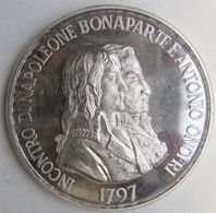 San Marino. Medaille Napoleon Bonaparte Et Antonio Onofri 1769 – 1969, En Argent. - Italie