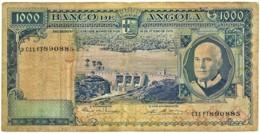 Angola - 1000 Escudos - 10.06.1970 - Pick 98 - Série C11 FT - Américo Tomás - PORTUGAL 1 000 - Angola