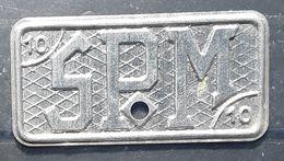 Ste Société Pyrénéenne De Métallurgie ,  Monnaie Jeton De Nécessité Necessity Token, 10 F Rectangle   , TB - K. 10 Francs