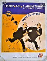 AFFICHE ORIGINALE PUBLICITE POUR TOTAL PAR HERGE TINTIN LES DUPONT 2000 - Afiches