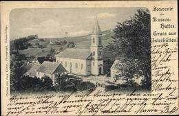 Cp Les Basses Huttes Unterhütten Orbey Urbeis Elsass Haut Rhin, Eglise, Kirche - France