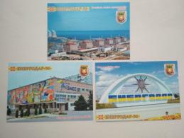 Ukraine. 3 PCs  Enerhodar Zaporizhia Nuclear Power Plant - Ukraine