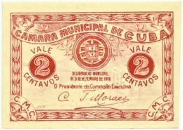 CUBA - Cédula De 2 Centavos - M.A. 803 - 31.12.1919 - Entrada Da Villa - Portugal Emergency Paper Money Notgeld - Portugal