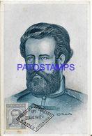 137817 ARGENTINA ART SIGNED T. DITARANTO PATRIOTIC GENERAL MARTIN GÜEMES CAUDILLO BREAK POSTAL POSTCARD - Argentine