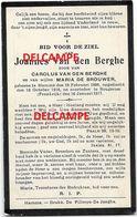 Oorlog Guerre Joannes Van Den Berghe Hamme Soldaat Arbeider Gesneuveld Te Rougeries / FR 1917 MORT POUR PATRIE - Images Religieuses