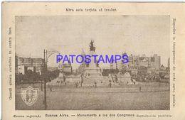 137820 ARGENTINA BUENOS AIRES MONUMENTO A LOS DOS CONGRESO XXXII CONGRESO EUCARISTICO INTERNACIONAL  POSTAL POSTCARD - Argentine