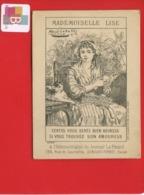Chromo Question Devinette Mademoiselle Lise  Amoureux Jeune Fille Chat Pelote Laine Alfred Le Petit Levallois Perret - Trade Cards