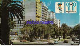137822 ARGENTINA ROSARIO SANTA FE BOULEVARD DR NICASIO OROÑO FUTBOL SOCCER WORLD CUP MUNDIAL 78 BREAK POSTAL POSTCARD - Argentine