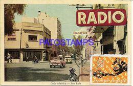 137823 ARGENTINA SAN LUIS STREET CALLE CENTRICA RADIO  POSTAL POSTCARD - Argentine