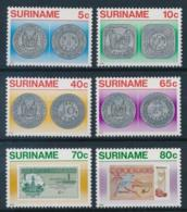 Suriname, 1983, Coins, Banknotes, Money, MNH, Michel 1032-1037 - Surinam