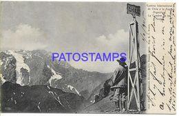 137824 ARGENTINA CHILE CAMINO INTERNACIONAL LA CUMBRE DE LOS ANDES CIRCULATED TO FRANCE POSTAL POSTCARD - Argentine