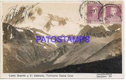 137826 ARGENTINA SANTA CRUZ CERRO GRANDE Y EL DOBLADO VISTA PARCIAL POSTAL POSTCARD - Argentine