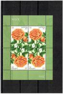Latvia 2011 .Flower, Rose. Sheetlet Of 4 (2x Tete-beche).   Michel # 803 KB - Lettonie