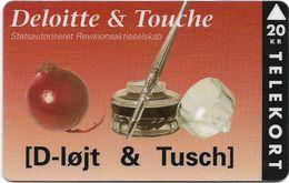 Denmark - KTAS - Privates - Deloitte & Touche - TDKP157s - 08.1995, 20kr, 128ex, Used Rare! - Danemark