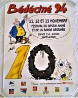 AFFICHE ANCIENNE ORIGINALE BD Bédéciné 94 ILLUSTRATION GREG ACHILLE TALON DUPA CUBITUS - Afiches