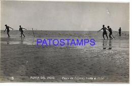 137830 ARGENTINA BUENOS AIRES PUNTA INDIO COSTUMES FISHING PESCA DE PEJERREY FRENTE AL HOTEL PHOTO NO POSTAL POSTCARD - Argentine