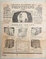 RARE CATALOGUE PROSPECTUS 1924 AU PRINTEMPS PARIS VÊTEMENTS PRINTEMPS TOILE DRAP ÉCHANTILLON TISSUS ART DÉCO - Fashion