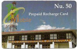 Bhutan - BMobile - Building - GSM Refill 50Nu, Used - Butan