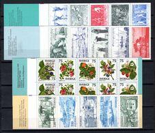 Zweden: 1977 - Verschillende Boekjes Postfris / Various Booklets MNH - Carnets