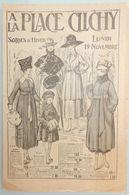 DOCUMENT PUBLICITAIRE OCTOBRE 1917 A LA PLACE DE CLICHY PARIS SOLDES D'HIVER VÊTEMENTS CATALOGUE MAGASIN - Fashion