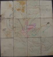 Carte Forêt Communale De Lamarche (Vosges), Plan D'aménagement 1958 - Carte Topografiche
