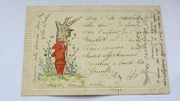 CPA Ancienne , ART NOUVEAU , Gaufrée, CHAPERON ROUGE   . - Künstlerkarten