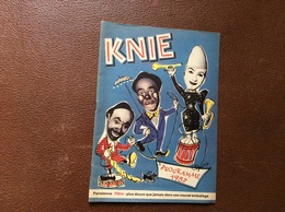 PROGRAMME CIRQUE  CIRQUE KNIE  Suisse  PROGRAMME 1957 - Programme