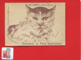Chromo Question Devinette Optique Le Chat De La Mère Michel Cherchez Le Père Lustucru Imprimerie Lanery Paris - Trade Cards