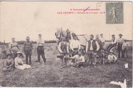 THEME AGRICULTURE - AUX CHAMPS RECOLTE DE L'AVOINE  CHEVAL MOISSON A TRAVERS LA NORMANDIE - Agriculture