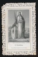 IMAGE PIEUSE   S.CHRISTINA     2 SCANS - Images Religieuses