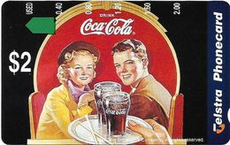 Australia - Telstra (Anritsu) - 1996 Coca Cola Complimentary - M444 - Couple 4/20 - 09.1996, 2$, 2.000ex, Mint - Australia