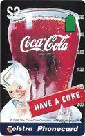 Australia - Telstra (Anritsu) - 1996 Coca Cola Complimentary - M445 - Boy 5/20 - 09.1996, 2$, 2.000ex, Mint - Australia