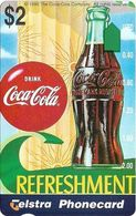 Australia - Telstra (Anritsu) - 1996 Coca Cola Complimentary - M446 - Bottle Refresh 6/20 - 09.1996, 2$, 2.000ex, Mint - Australia