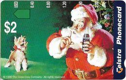 Australia - Telstra (Anritsu) - 1996 Coca Cola Complimentary - M447 - Santa & Dog 7/20 - 09.1996, 2$, 2.000ex, Mint - Australia