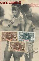 ETUDE DE NU JEUNE EBRIES FEMME NU EROTISME EROTICISM NAKED WOMAN TIMBRE STAMP COTE-D'IVOIRE AFRIQUE - Costa De Marfil