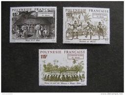 Polynésie: TB Série N° 410 Au N° 412 ,neufs XX . - Polynésie Française
