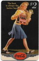 USA - Sprint - Coke National '96 (SILVER VALUE) - SBI-1113 - Advert. #2, Remote Mem. 2$, 4.050ex, Used - Vereinigte Staaten