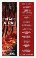 Marque-page - Théâtre à Pau - Béarn, Pyrénées Atlantiques 64 - Saison 2020 2021 - Lire Description - Marque-Pages