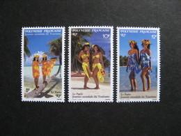 Polynésie: TB Série N° 365 Au N° 367 ,neufs XX . - Polynésie Française