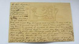 CPA Ancienne , ART NOUVEAU , Gaufrée  , Relief , époque KIRCHNER   . - Illustrateurs & Photographes