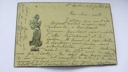 CPA Ancienne , ART NOUVEAU , Gaufrée  , Relief , époque KIRCHNER   . - Antes 1900