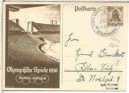 ALEMANIA 3 REICH ENTERO POSTAL JUEGOS OLIMPICOS BERLIN 1936 MAT AUSSTELLUNG DEUTSCHLAND - Sommer 1936: Berlin