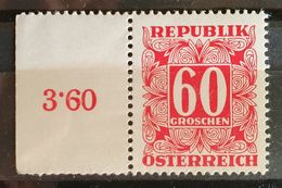 Österreich PORTO 1950, 60 Gr. ANK P242 MNH Postfrisch - 1945-60 Ongebruikt