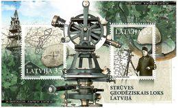 Latvia 2011 . Struve Geodetic Arc. S/S Of 2v: 35, 55.   Michel # BL 29 - Lettonie